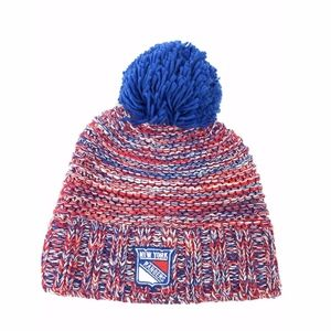 Reebok Accessories - Reebok NEW YORK RANGERS Pom Pom Knit Beanie Hat 55a768466e8